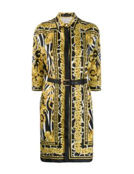 Baroque Print Shirt Dress by Versace