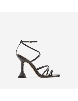 Richie Square Toe Heel In Black Patent by Ego