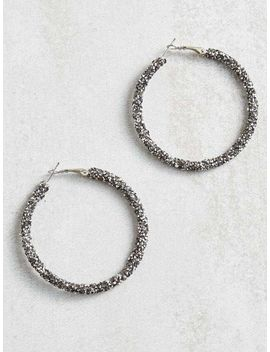 Rock Paper Wrapped Hoop Earrings by Altar'd State