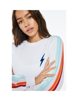 Bolt Cropped Classic Crew Sweatshirt by Aviator Nation