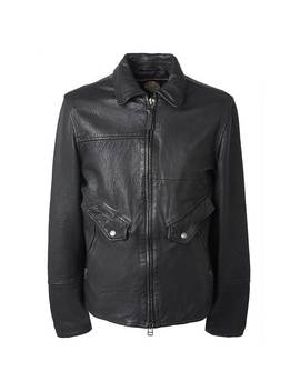 Leather  Zip Through Jacket by Pretty Green