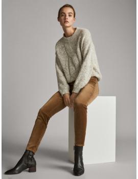 pantalon-en-velours-À-taille-haute-skinny by massimo-dutti