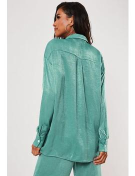 Chemise Oversize Bleu Sarcelle by Missguided
