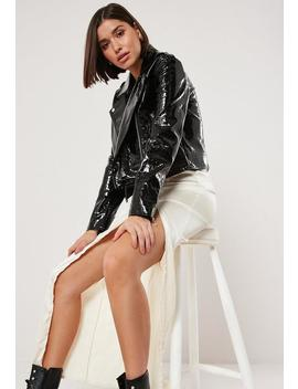 Veste Biker Noire Croco by Missguided