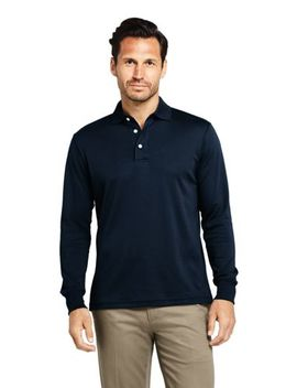 Men's Long Sleeve Super Soft Supima Polo Shirt by Lands' End