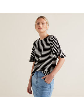 Flutter Sleeve Terry Top by Seed Heritage