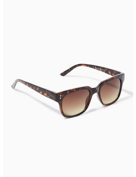 Tortoiseshell Shiny 50s Sunglasses by Topman