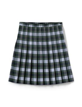 School Uniform Women's Plaid Pleated Skirt Below The Knee by Lands' End
