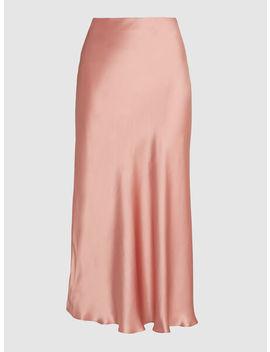 Aksou Bias Cut Satin Silk Skirt by Le Kasha