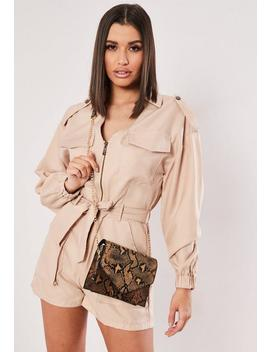 Brown Snake Chain Cross Body Bag by Missguided