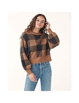 Plaid Cashmere Sweater by Splendid