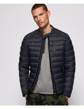 Commuter Quilted Biker Jacket by Superdry