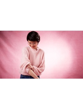 Pink Charlotte High Neck Jumper Boom!You're With Us Now. by Nobody's Child