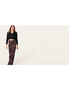 Black And Pink Floral Lottie Palazzo Trouser        Boom!You're With Us Now. by Nobody's Child