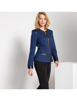 Straight Two Tone Zipped Jacket by Anne Weyburn