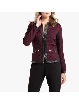 Short Fitted Jacquard Jacket by Anne Weyburn