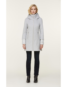 Rooney Mixed Media Coat With Puffy Bib by Soia & Kyo