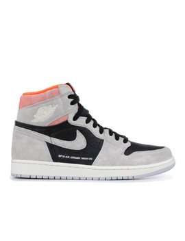 "Air Jordan 1 Retro High Og ""Grey Crimson"" by Air Jordan"