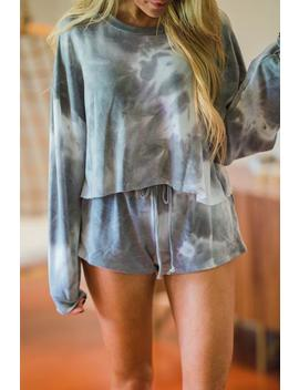 Just Lounge Tye Dye Shorts   Grey by Hazel & Olive