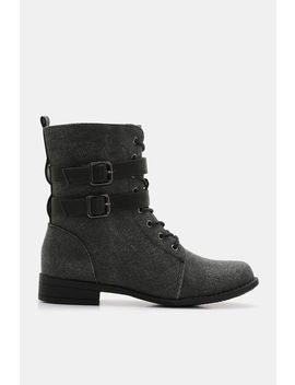 Buckled Combat Boots by Ardene