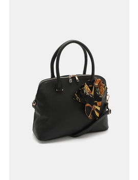 Faux Leather Bag With Printed Scarf by Ardene