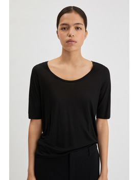 Tencel Scoop Neck Tee by Filippa K