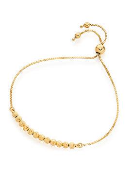 9ct Gold Ball Slider Bracelet by Beaverbrooks