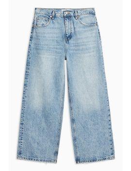 Gebleichte, Verkürzte Jeans by Topshop