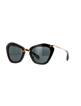 Miu Miu Noir 10 Ns 1 Ab1 A1 (Black) by Miu Miu Sunglasses