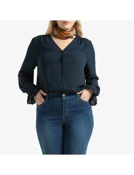 Long Sleeved Blouse With V Neck by La Redoute Collections Plus
