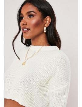 Pull Basqiue Blanc Super Court by Missguided