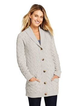 Women's Cotton Drifter Shawl Cardigan Sweater by Lands' End
