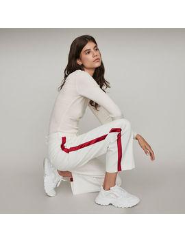 Pantalon Large à Bandes Contrastées by Maje