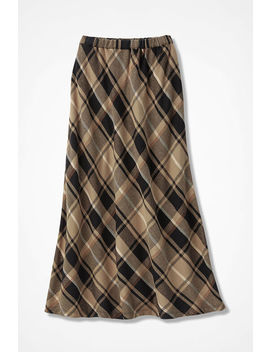 Flannel Plaid Pull On Maxi Skirt by Coldwater Creek