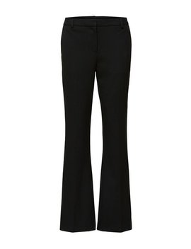 Black Mid Waist Trousers by Selected Femme