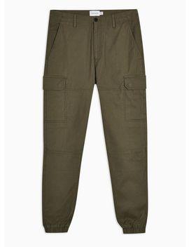 Khaki Cargo Pants by Topman