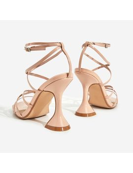 Richie Square Toe Heel In Nude Patent by Ego