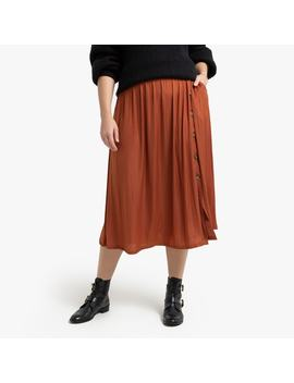 Full Midi Skirt With Buttons by La Redoute Collections Plus