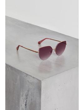 Metal Geo Cat Eye Sunglasses by Bcbgeneration