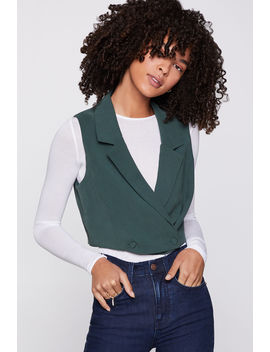 Cropped Double Breasted Vest by Bcbgeneration