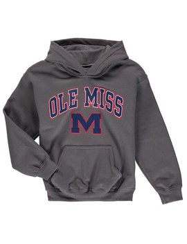 Fanatics Branded Ole Miss Rebels Youth Charcoal Team Campus Pullover Hoodie by Fans Edge