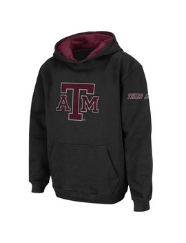 Texas A&M Aggies Youth Black Big Logo Pullover Hoodie by Fans Edge