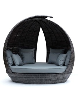 Maze Rattan Lotus Daybed   Grey Hg Garden Furniture Cleaner by Robert Dyas