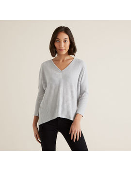 V Neck Rib Top by Seed Heritage
