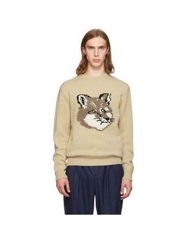 off-white-fox-head-sweater by maison-kitsunÉ