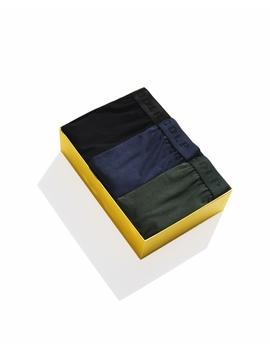 3 Pack Boxer Shorts Black/Navy Blue/Army Green by Cdlp