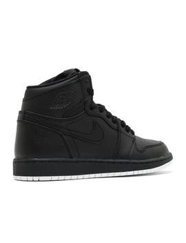 "Air Jordan 1 Retro High Og Bg (Gs) ""Black Perforated"" by Air Jordan"