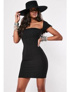 Black Milkmaid Bodycon Mini Dress by Missguided
