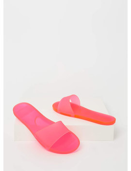 Down At The Pool Jelly Slide Sandals by Go Jane