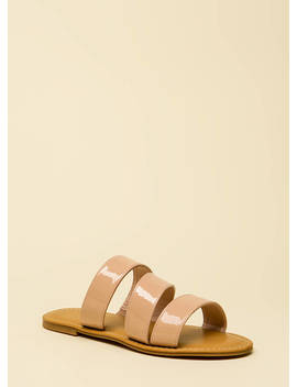 Wild And Three Faux Patent Sandals by Go Jane